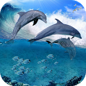 Happy Dolphins Live Wallpaper icon
