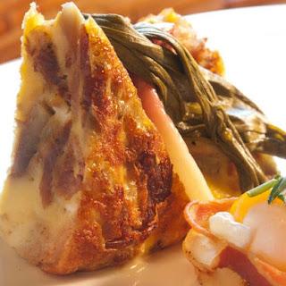 Salami and Eggs Matzo Frittata