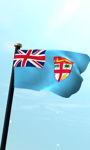 Fiji Flag 3D Free Wallpaper