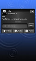 Screenshot of GO SMS Pro Blue Metal Theme