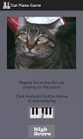 Screenshot of Cat Piano Memory Game