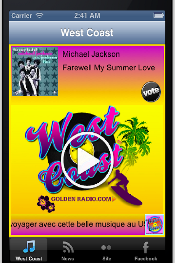 West Coast Golden Radio- screenshot