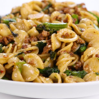 Mario Batali's Sausage and Broccoli Rabe Pasta.