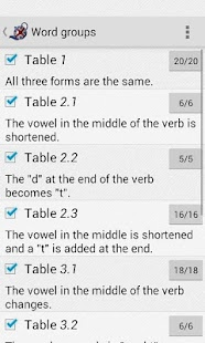 Irregular verbs Pro- screenshot thumbnail