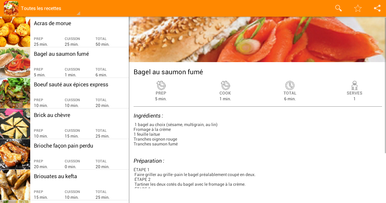 Recettes faciles et rapides android apps on google play - Recettes vegetariennes faciles et rapides ...