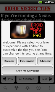 Droid Secret Tips Pro - screenshot thumbnail