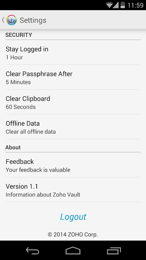 Zoho Vault - Password Manager - screenshot