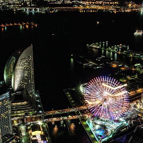 Minatomirai - Cosmo World by Lenny Sharp - City,  Street & Park  Night ( cosmo world, japan, intercontinental, minatomirai, yokohama )