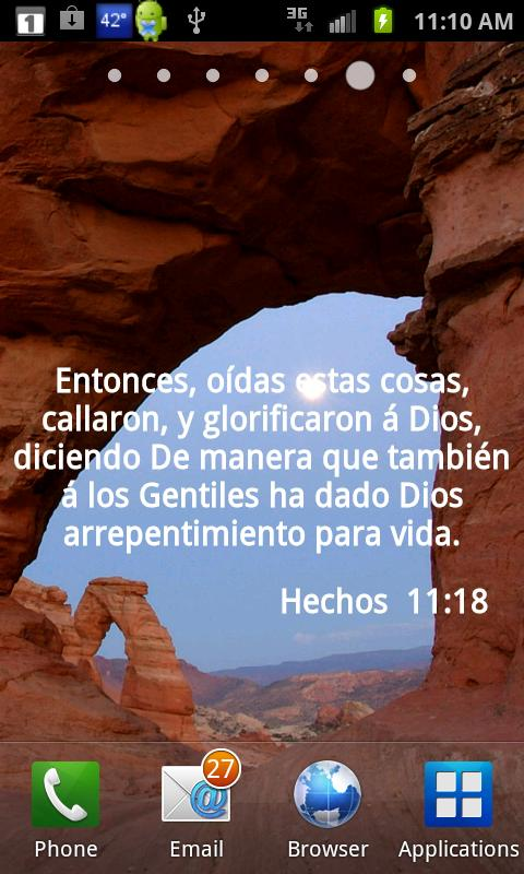 Versos Biblicos Wallpaper - screenshot
