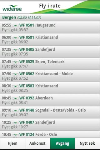 Widerøe- screenshot