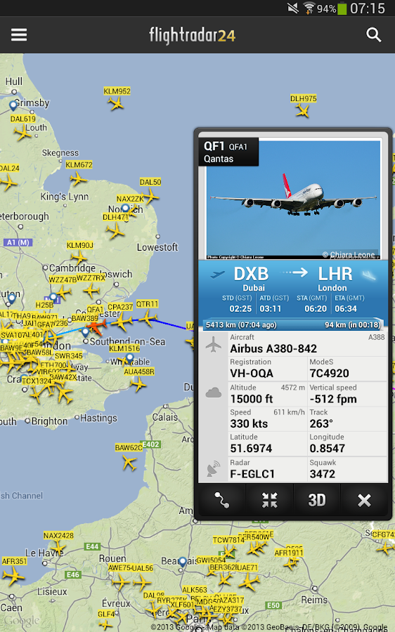 Flightradar24 Pro - screenshot