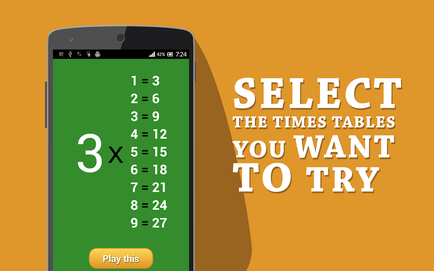 Multiplication table 1 12 android apps on google play for 1 to 12 times table games