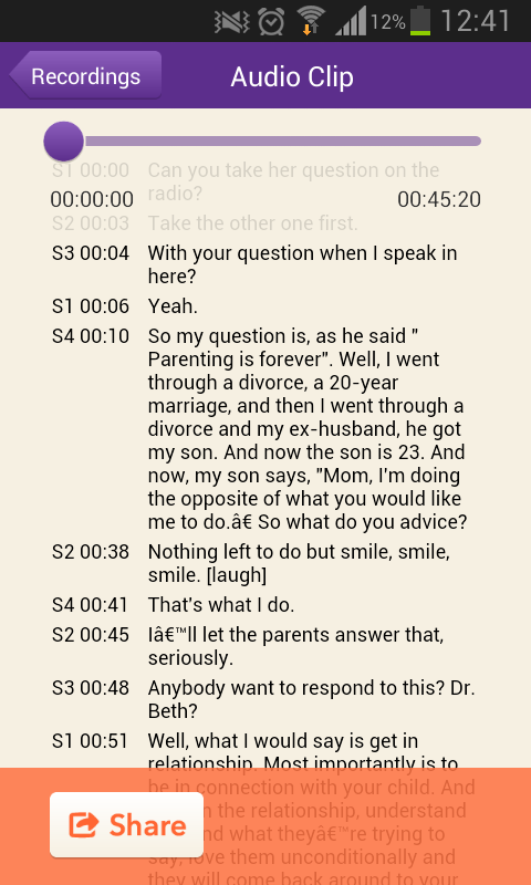 TranscribeMe- screenshot