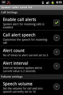 Talking Caller ID Free- screenshot thumbnail
