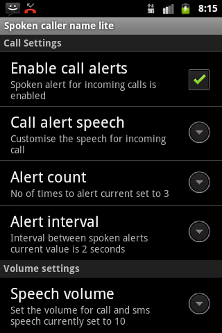 Talking Caller ID Free- screenshot