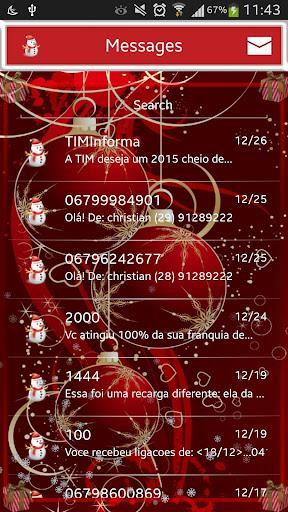 Christmas GO SMS Pro Theme