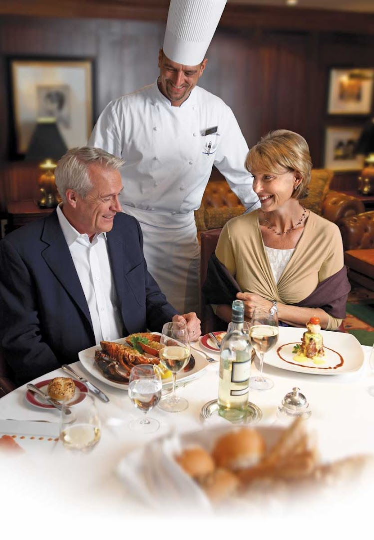 You'll enjoy an intimate dining experience in the Polo Grill restaurant on Oceania Regatta.