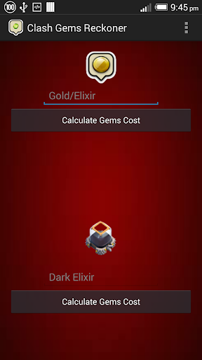Clash of Clans Gems Calculator