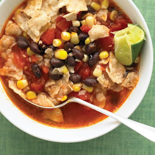 Tortilla Soup with Black Beans.