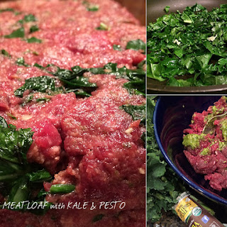 Elk Meatloaf with Kale & Pesto