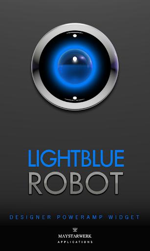 Poweramp Widget Lightblue Robo