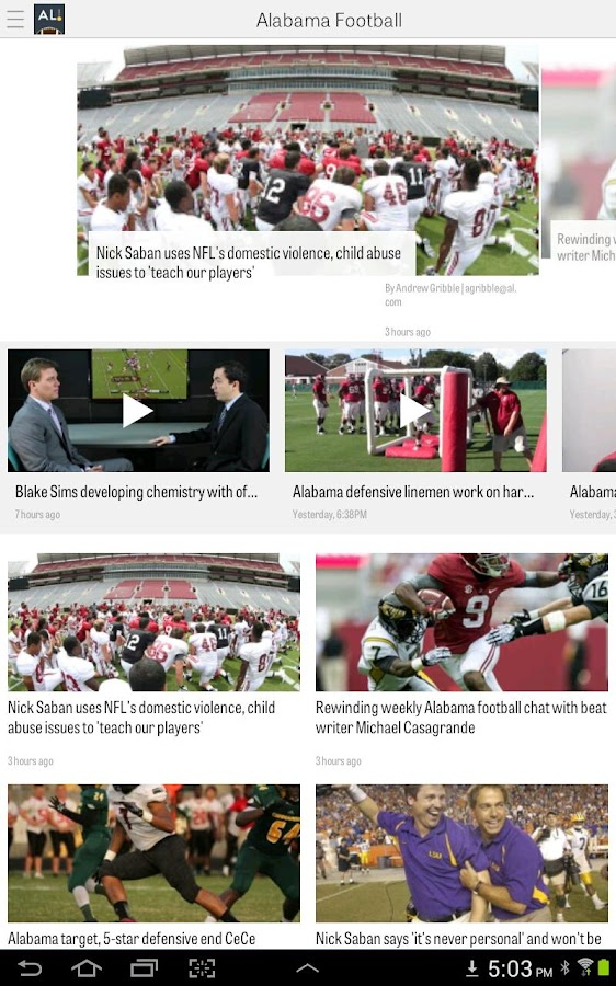 AL.com: Alabama Football News- screenshot