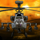 Combat helicopter 3D flight icon