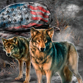 American Wolves Live Wallpaper