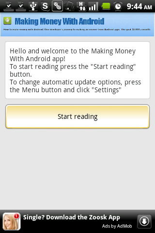 Making Money with Android Blog- screenshot