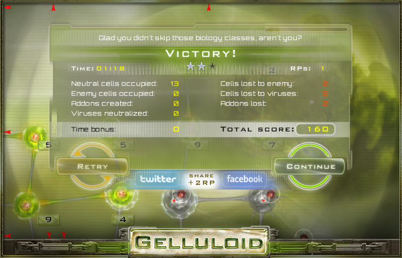 Gelluloid: Micro War Strategy - screenshot