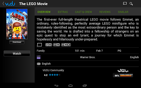 VUDU Movies and TV - screenshot thumbnail