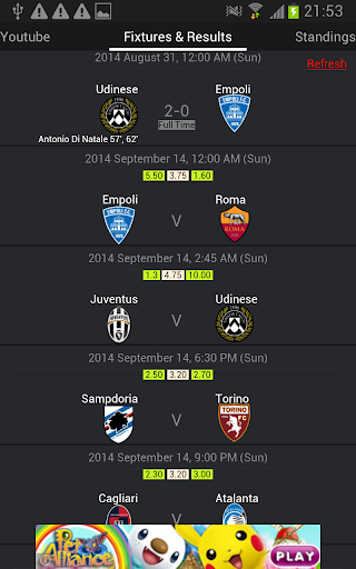 Italy Football League Live