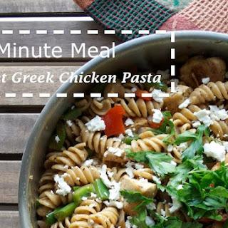 Skillet Greek Chicken Pasta.