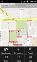 Screenshot of Area Measurement on google Map