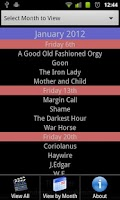 Screenshot of Cinema Release Dates UK