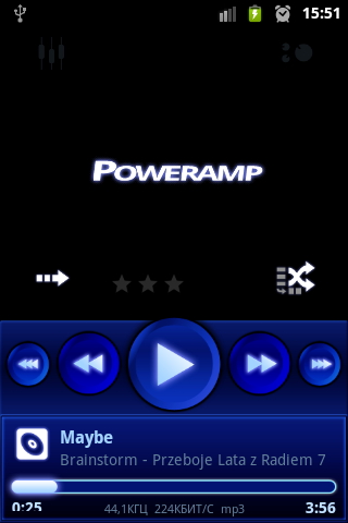Blue skin for Poweramp