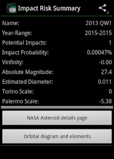 Asteroid Tracker- screenshot thumbnail