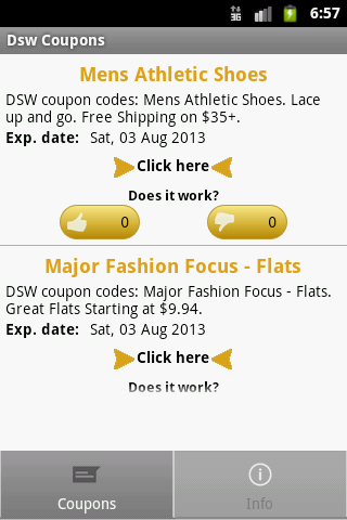 DSW Coupons - screenshot