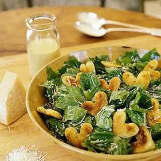 Caesar Salad with Heart Croutons.