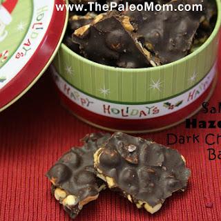Salted Hazelnut Dark Chocolate Bark.