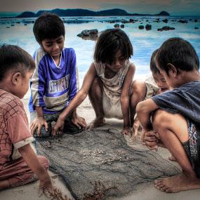FISHERMAN KIDS by Alief N Ardiansyah - Babies & Children Children Candids