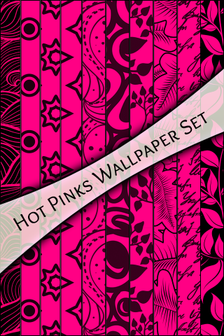 WALLPAPER SET - Hot Pinks
