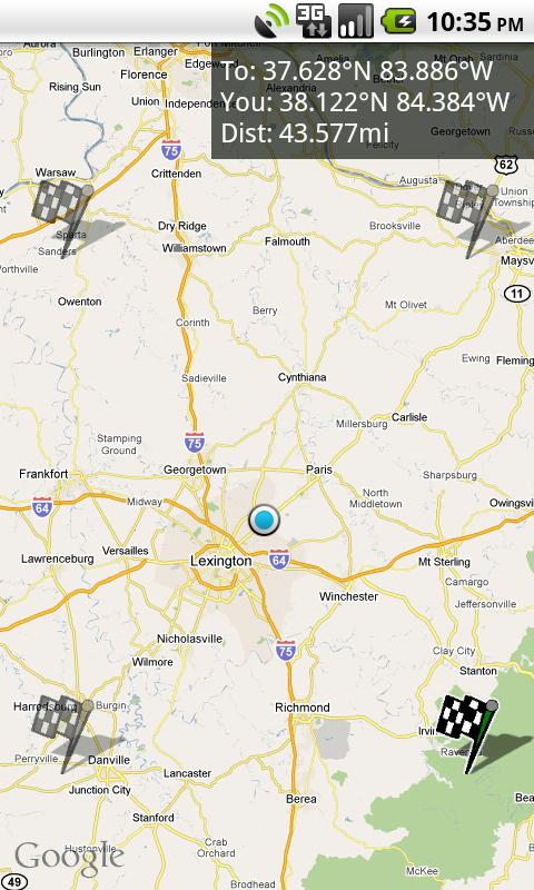Geohash Droid - screenshot