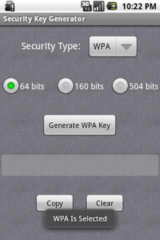Security Key Generator - screenshot