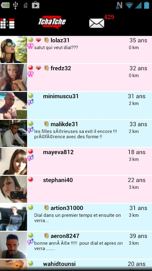 Tchatche : chat gratuit - screenshot