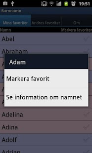 Swedish baby names- screenshot thumbnail