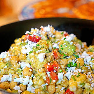 Chickpea, Avocado and Grilled Corn Salad.