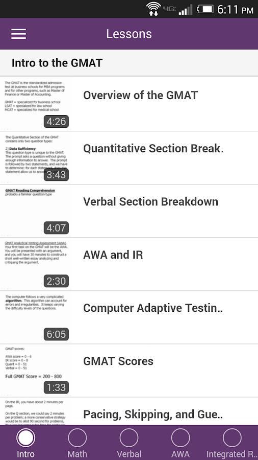 Magoosh GMAT Prep- screenshot