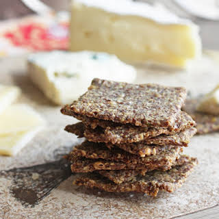 Rosemary & Sea Salt Flax Crackers (Low Carb and Gluten Free).