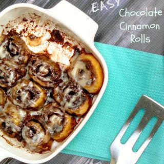 Easy Chocolate Cinnamon Rolls